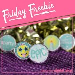 Turquoise Candy Stickers Free Printable