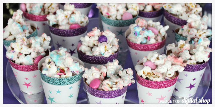 Party Popcorn Recipe | Candy Melts | Chocolate | Sprinkles | Teen Party Planning | Ridgetop Digital Shop