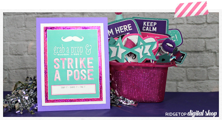 Photo Booth Sign Free Printable | Turquoise & Pink | Birthday Printable | Printable Photo Booth | Ridgetop Digital Shop