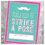 Photo Booth Sign Free Printable – Turquoise & Pink