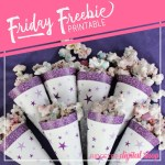 Birthday Cone Wrapper Free Printable – Purple