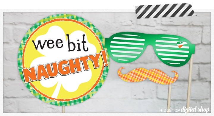 St Patrick's Day Photo Booth Props | March Party Planning | Printable Party Decor | Ridgetop Digital Shop
