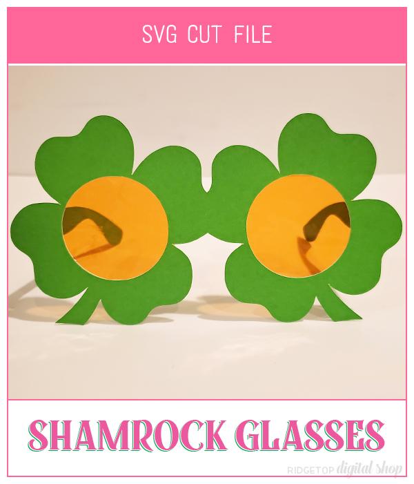 Shamrock Glasses SVG   St. Patrick's Day   4-H   4 leaf clover   Photo Booth Props   Ridgetop Digital Shop