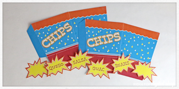 Chips Snack Box Free Printable | Ridgetop Digital Shop