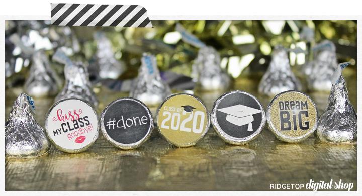 Graduation Candy Stickers Free Printable | Friday Freebie | Ridgetop Digital Shop