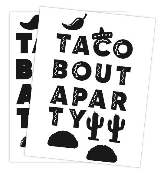 Taco Bout a Party Banner SVG | Ridgetop Digital Shop