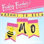 Mommy to Bee Free Printable Banner