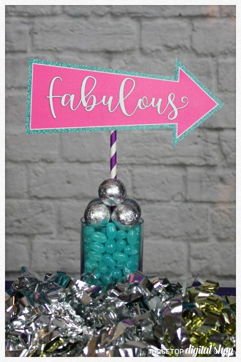 Super Sweet 12th Birthday Party | fabulous photo booth prop | Ridgetop Digital Shop