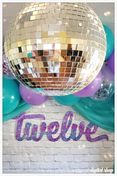 Super Sweet 12th Birthday Party | Mirror Ball | Ridgetop Digital Shop