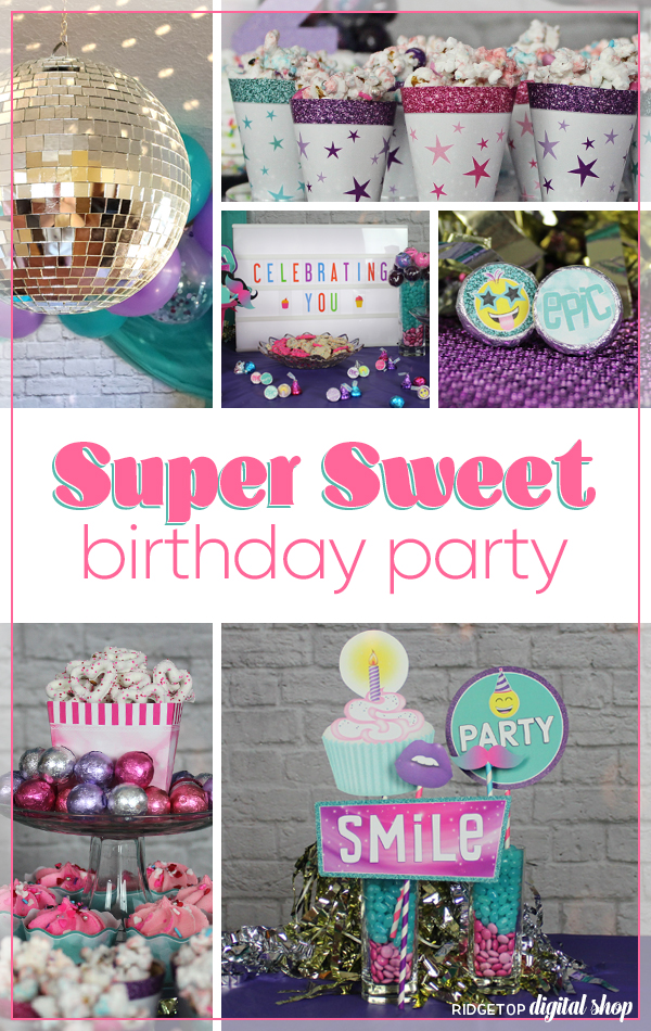 Super Sweet Birthday Party | Birthday Party Styling | Dessert Table | Photo Booth Prop | Girl Birthday Party Idea | 12th birthday party | Ridgetop Digital Shop