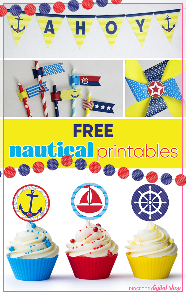Nautical Party | Free Nautical Printables | Nautical Party Ideas | Ridgetop Digital Shop