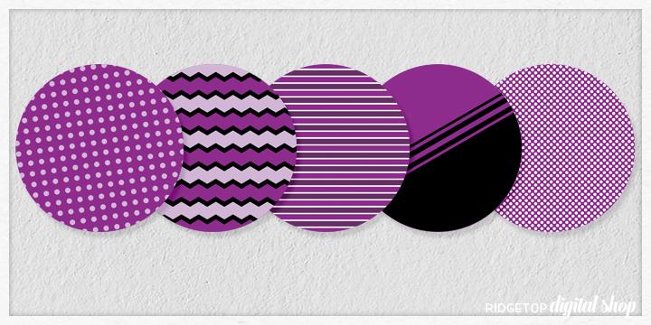 Purple Party Circles Free Printable | Ridgetop Digital Shop
