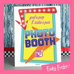 50's Theme Photo Booth Sign Free Printable