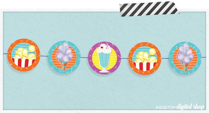 Movie Snacks Party Circles Free Printable   Ridgetop Digital Shop