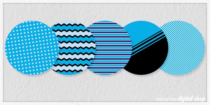 Blue Party Circles Free Printable   Ridgetop Digital Shop