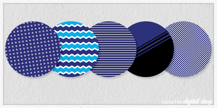 Navy Party Circles Free Printable | Ridgetop Digital Shop