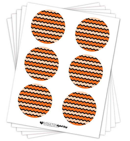Orange Party Circles Free Printable | Ridgetop Digital Shop