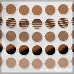Brown Party Circles Free Printable