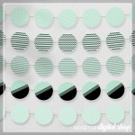 Mint Party Circles Free Printable