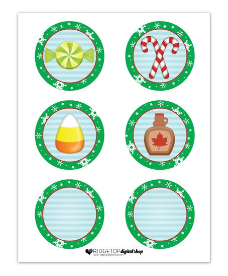 Elf Food Groups Party Circles Free Printable Banner   Ridgetop Digital Shop