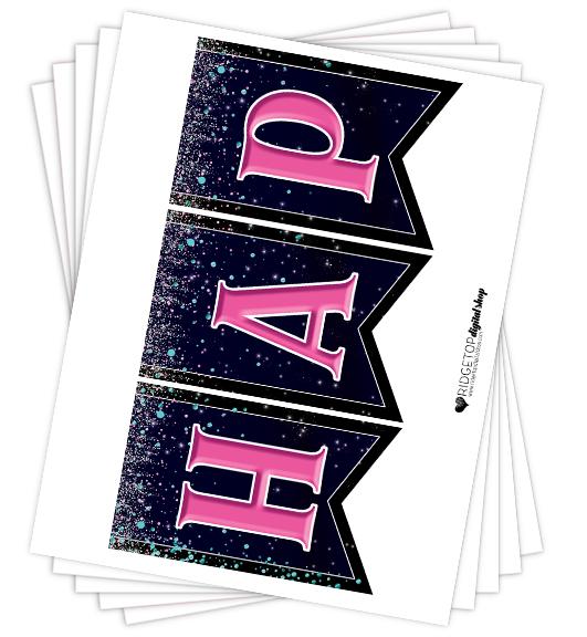 Happy New Year Banner Free Printable | Ridgetop Digital Shop