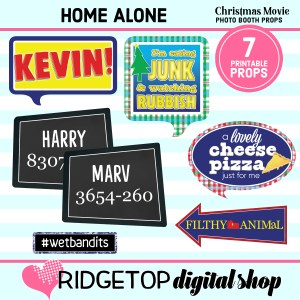 RDS | Home Alone Movie Night Photo Props