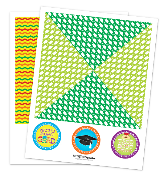 Nacho Average Grad Pinwheel Free Printable | Ridgetop Digital Shop