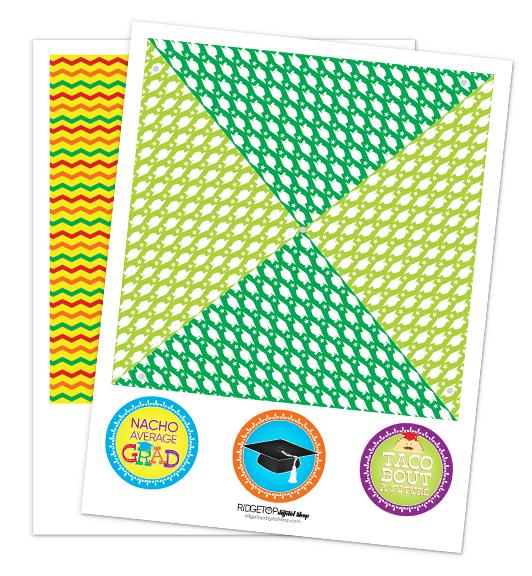 Nacho Average Grad Pinwheel Free Printable   Ridgetop Digital Shop