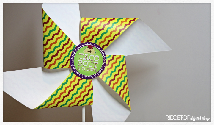 Nacho Average Grad Pinwheel Free Printable | single side printing | Ridgetop Digital Shop