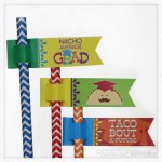 Nacho Average Grad Straw Flags Free Printable