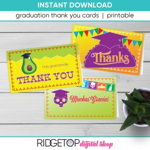 Taco Bout Graduation Thank You Cards - printable