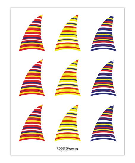 Nautical Jello Cup Recipe and Printable | Free Sail Printable | Ridgetop Digital Shop