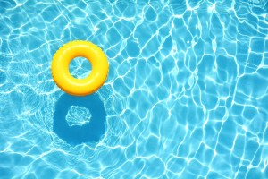pool with yellow ring