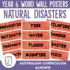 Natural Disasters Word Wall Posters   Ridgy Didge Resources   Australia