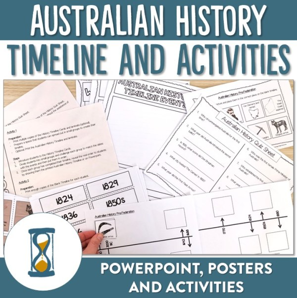 Australian History Timeline Activities | Ridgy Didge Resources | Australia