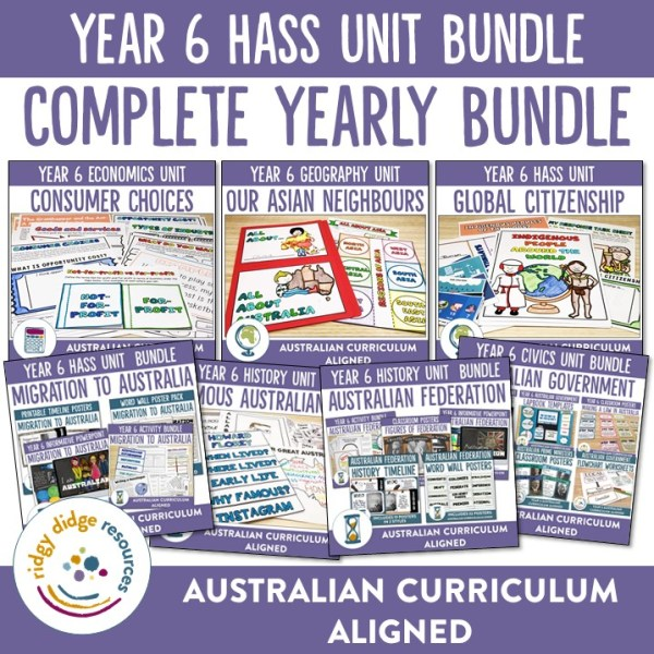 Year 6 HASS Units | Ridgy Didge Resources | Australia