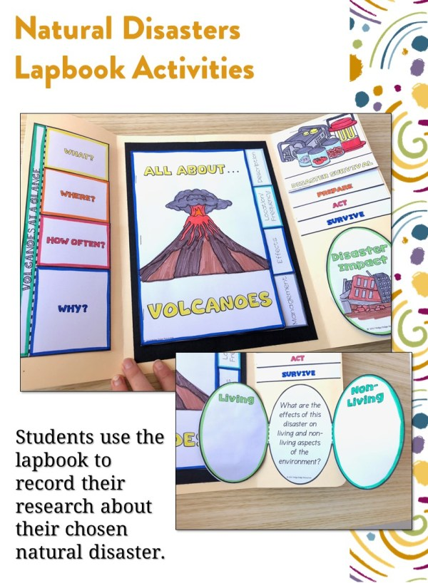 Natural Disasters Lapbook Activities Preview | Ridgy Didge Resources | Australia