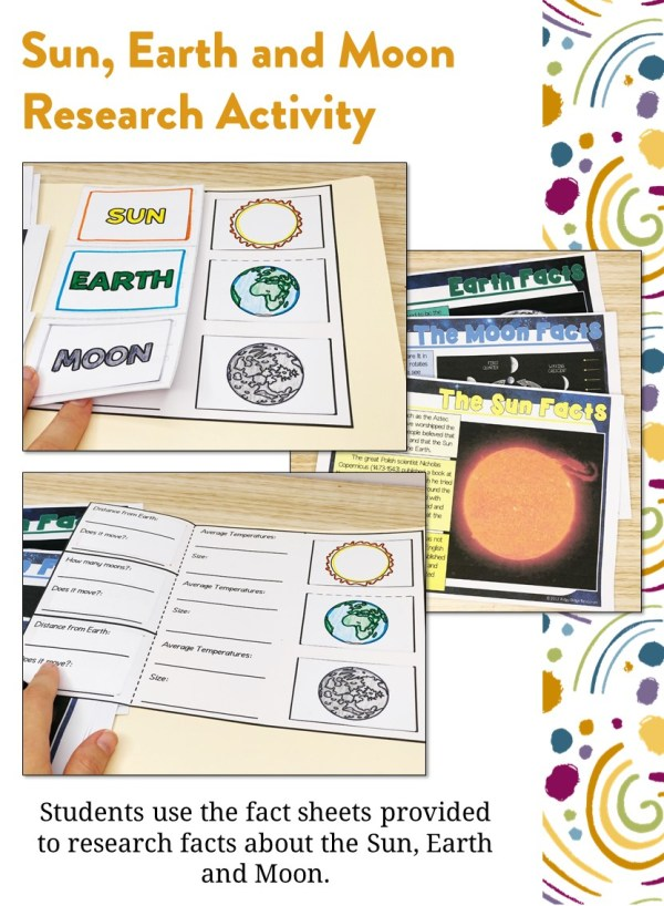 Sun Earth and Moon Research Activity | Ridgy Didge Resources | Australia