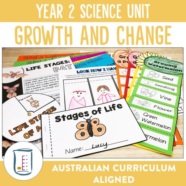 Australian Curriculum Year 2 Science Growth and Change Unit | Ridgy Didge Resources | Australia
