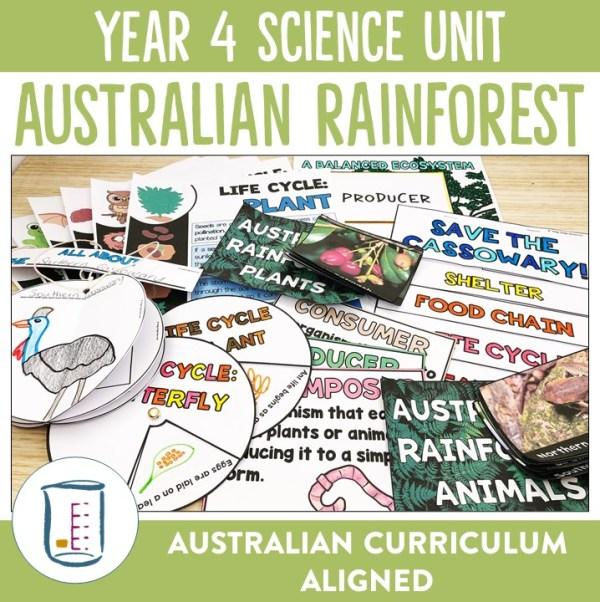 Australian Curriculum Year 4 Science Australian Rainforests Unit | Ridgy Didge Resources | Australia
