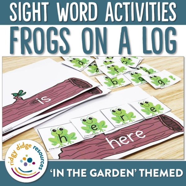 Sight Word Frogs on a Log | Ridgy Didge Resources | Australia