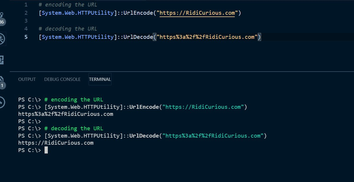 URL Encode and Decode with PowerShell