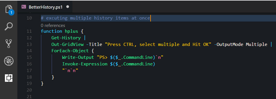 A better Get-History in PowerShell