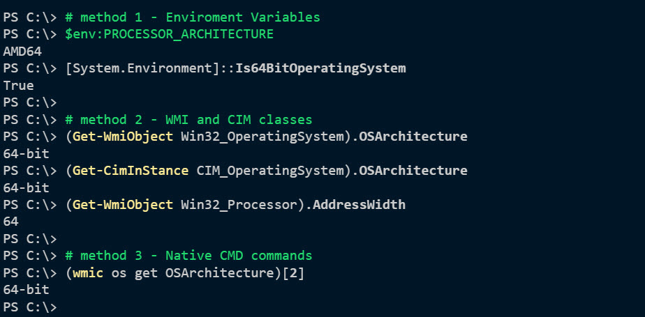 4 Ways to Find OS Architecture using PowerShell (32 or 64 bit)