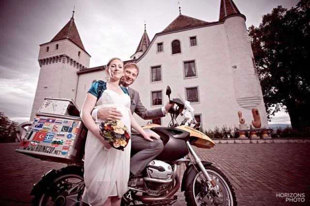 Traveling threesome get hitched in Switzerland