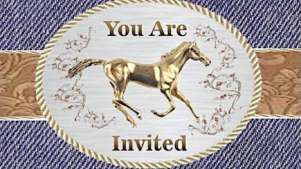 pony horse party invitations and