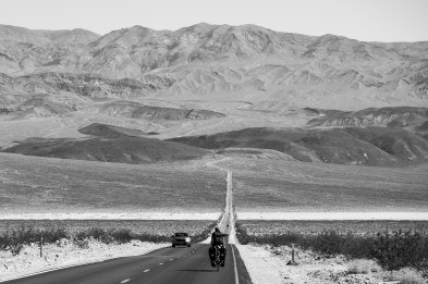 Quite an intimidating prospect... The 1000m climb straight over this ridge to get into Death Valley, CA, USA