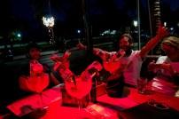 Celebrating with a traditional Miami drink. The Bulldog. Ocean Drive, Miami, FL, USA