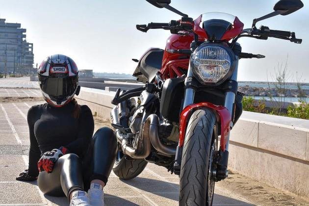 2019 Ducati Monster 821 & Noemi on Ridin'GirlsBlog