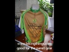 caroline food garden, custom organic business bike jerseys and shorts, green bikingthings